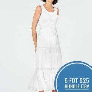 NY Collection Petite Smocked Maxi Dress